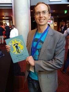 Erik Vorhees with the BitcoinComic web
