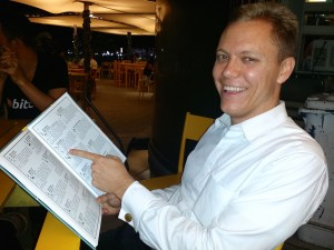 Trace Mayer with BitcoinComic during laBitConf